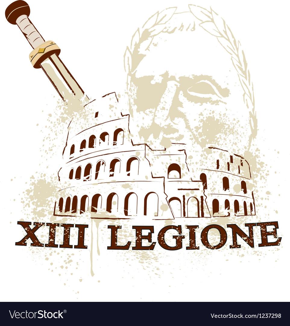 Rome colosseum vector image