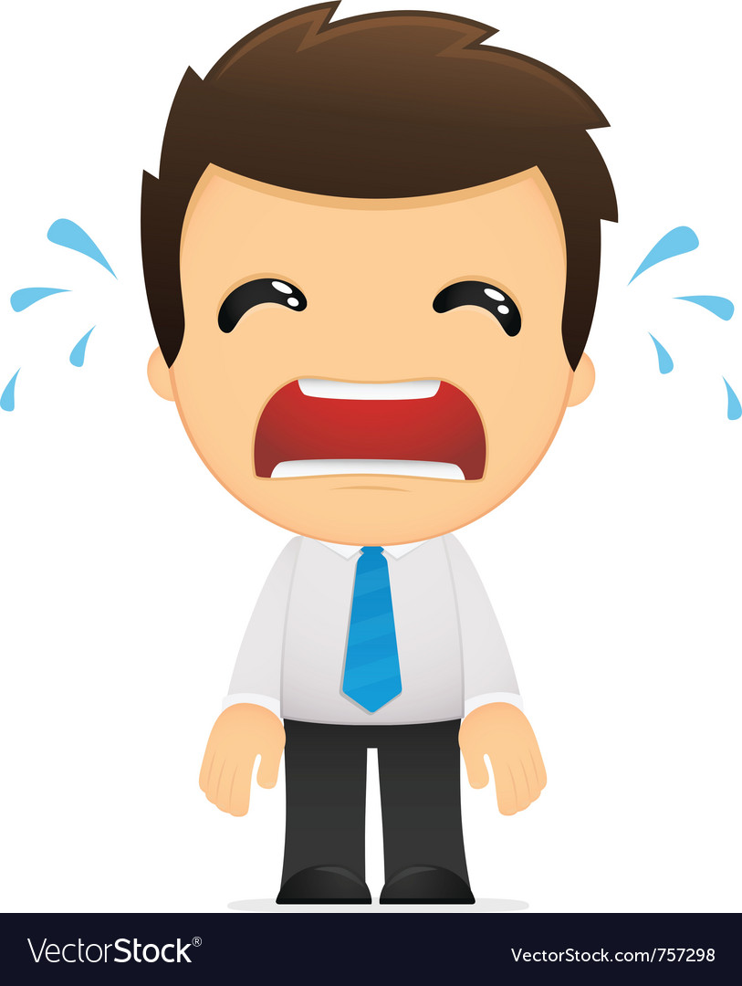 Cartoon office worker vector image