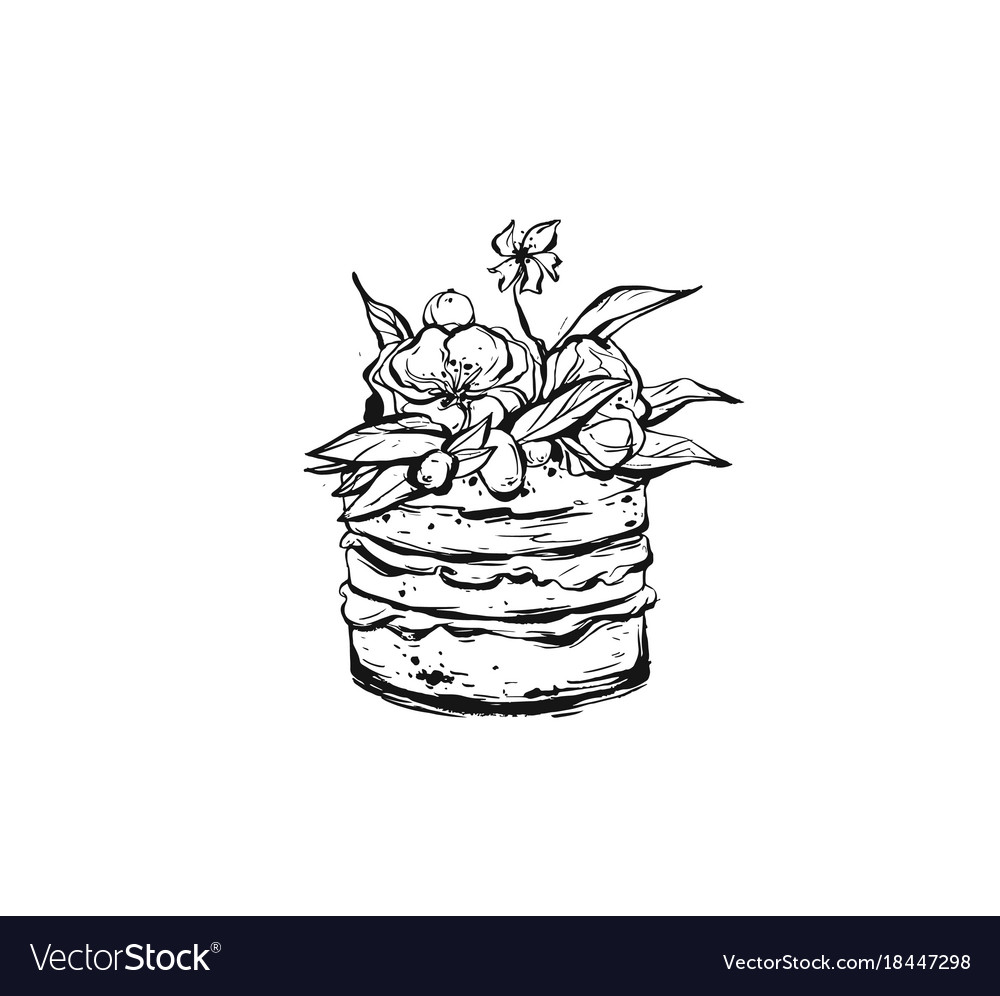 Hand drawn abstract rough freehand graphic vector image
