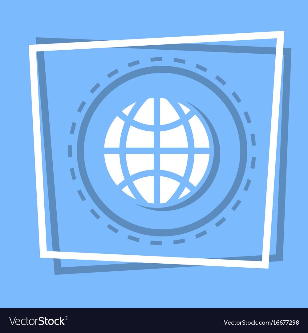 World globe icon earth planet concept vector image