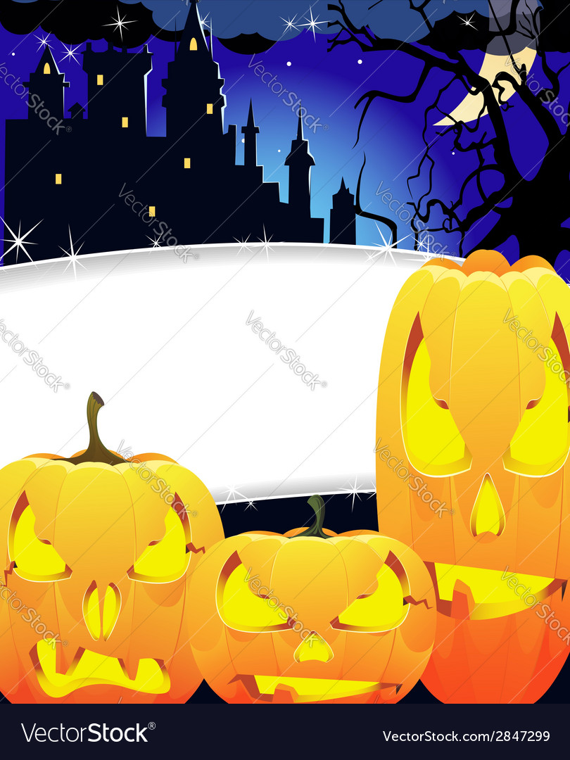 Creepy monsters with glowing eyes vector image