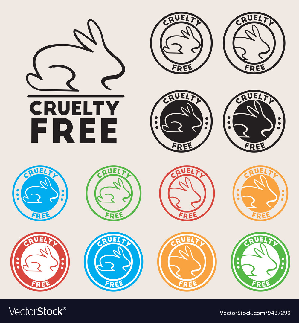Cruelty free sign icon not tested symbol round vector image biocorpaavc Gallery