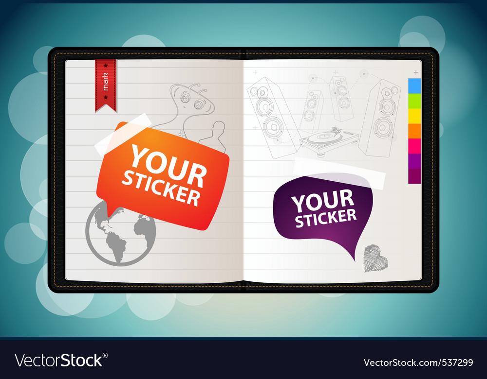 Vector sketchbook vector image