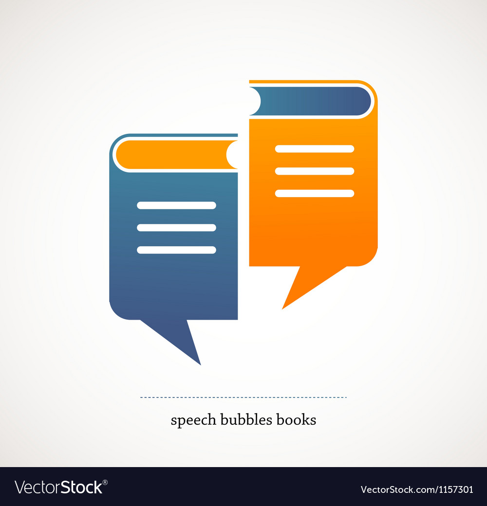 Book talks - concept design with speech bubbles vector image