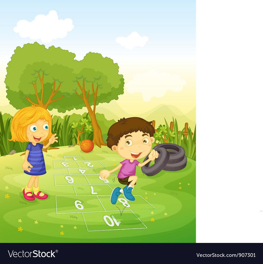 Hopscotch vector image