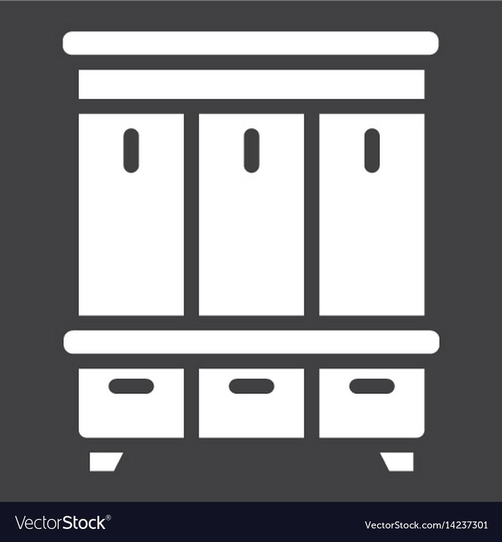 Hallway closet solid icon furniture and interior vector image