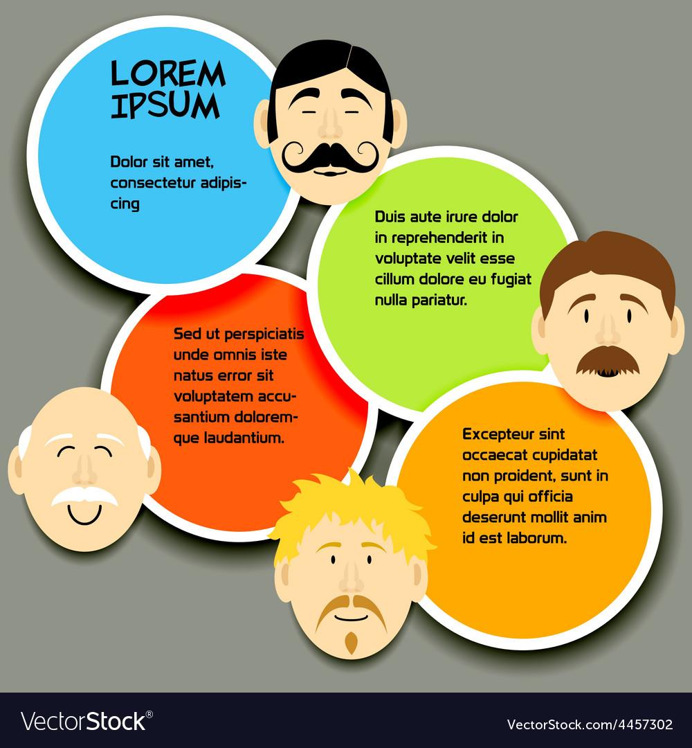 Mustache faces 2 vector image