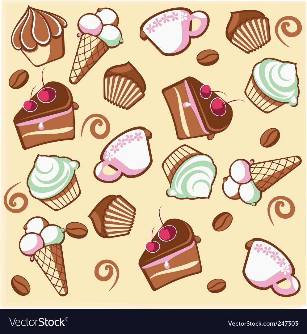 Coffee desert vector image