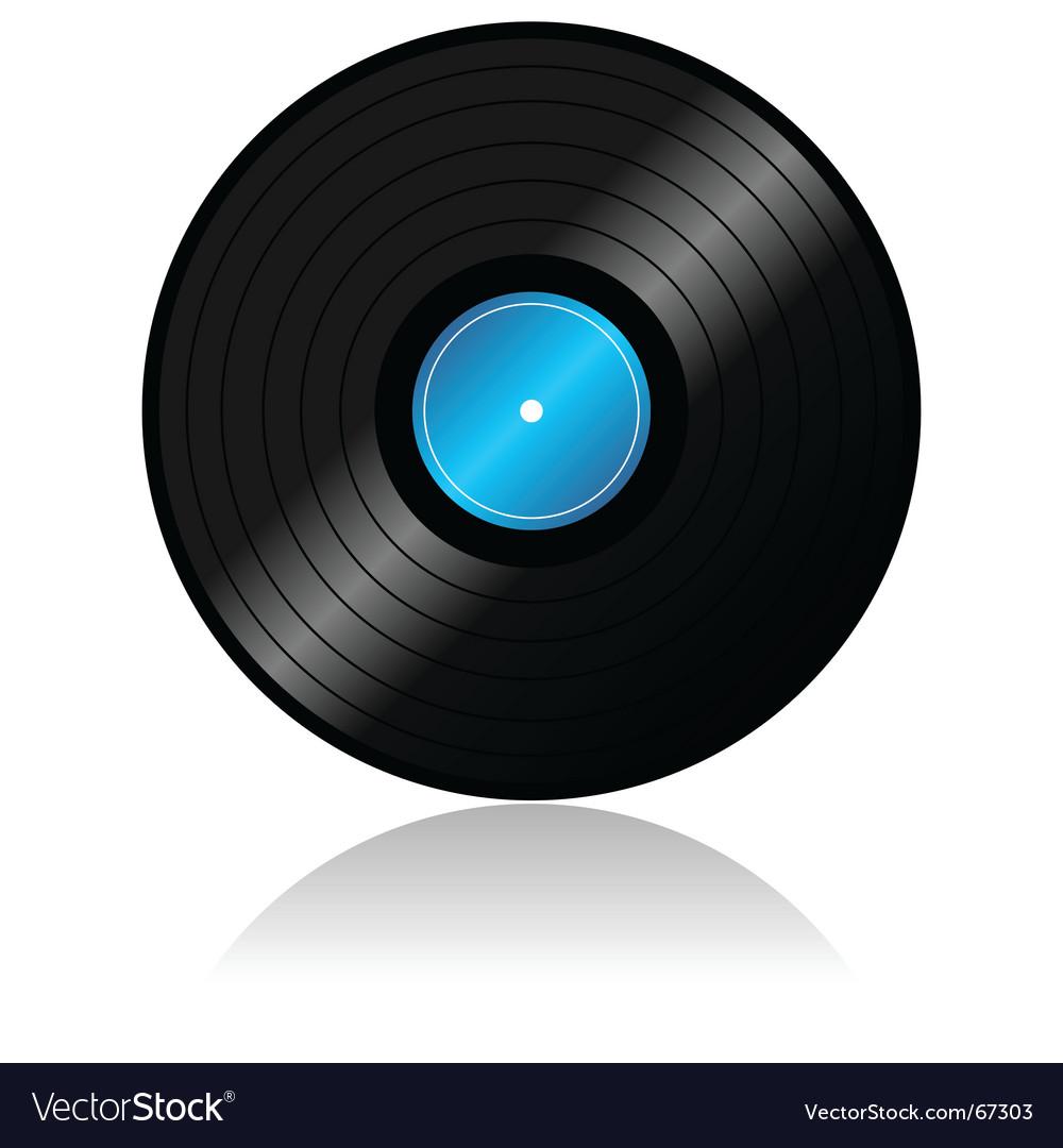 Vinyl record with reflex vector image