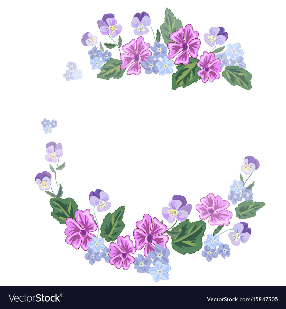 Bouquet and a wreath of beautiful flowers vector image