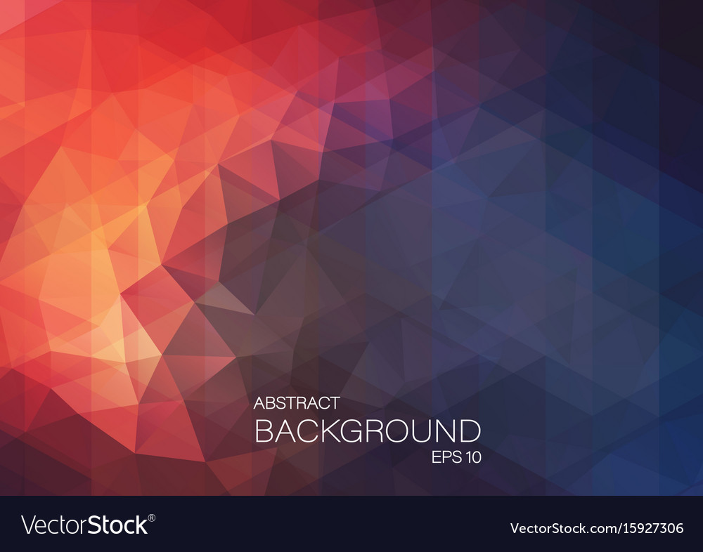 Flat retro triangle background of geometric shapes vector image