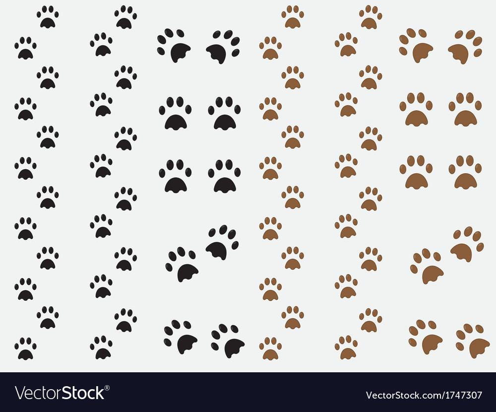Dog prints vector image