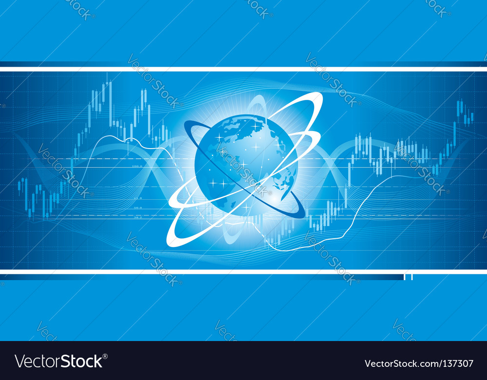 Global trade vector image