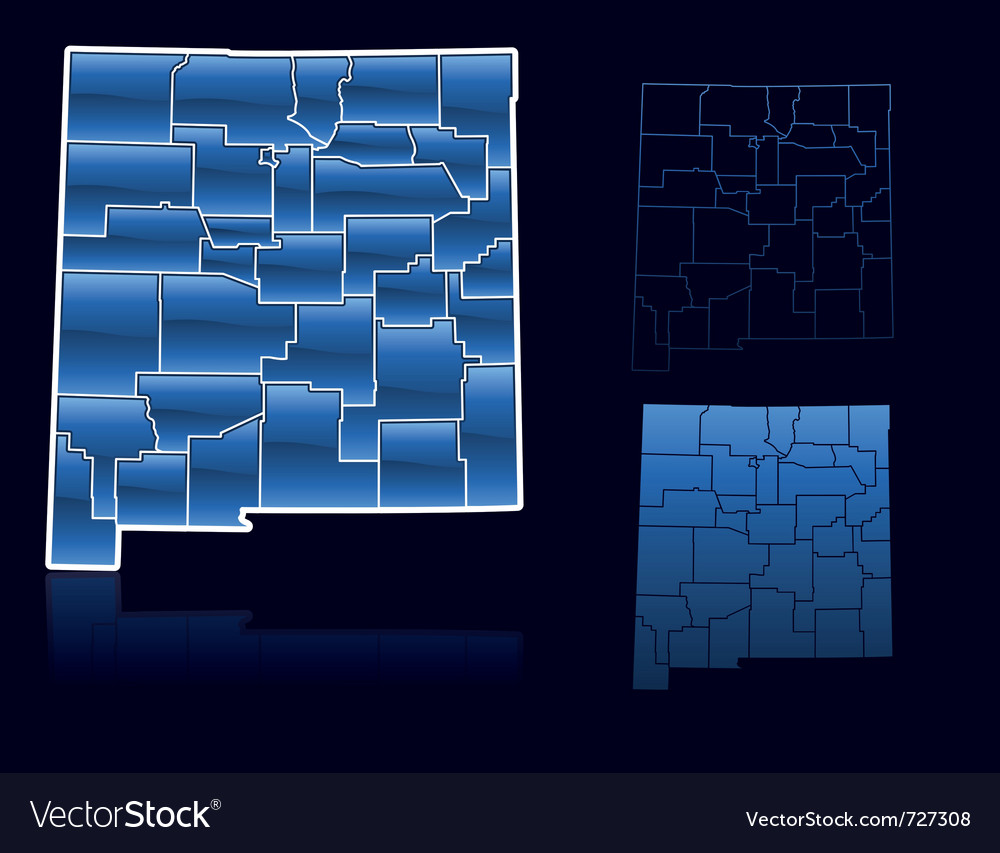 Counties of new mexico vector image