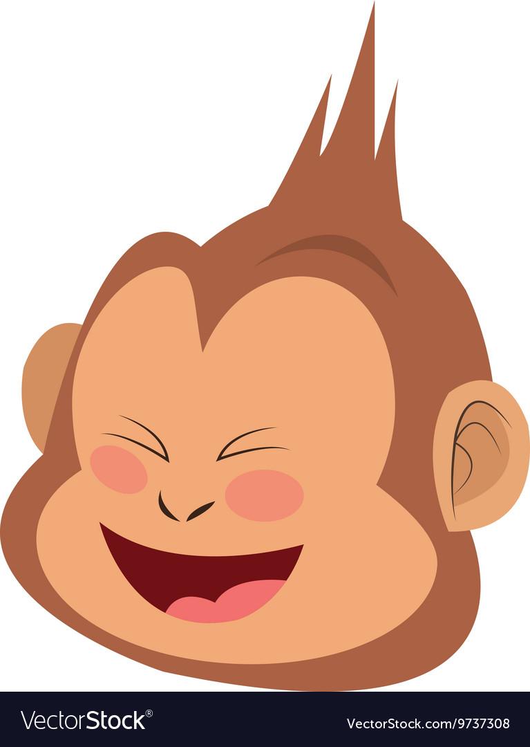Smiling monkey cartoon icon vector image