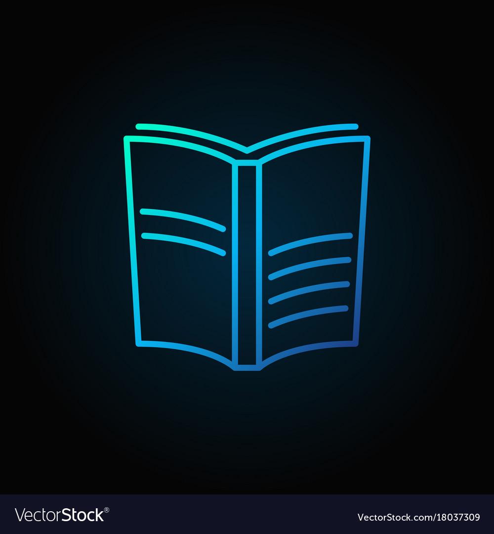 Book blue icon vector image