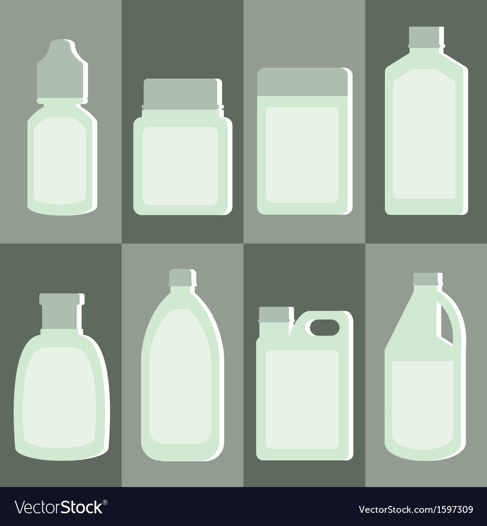 Set of medicine bottle vector image