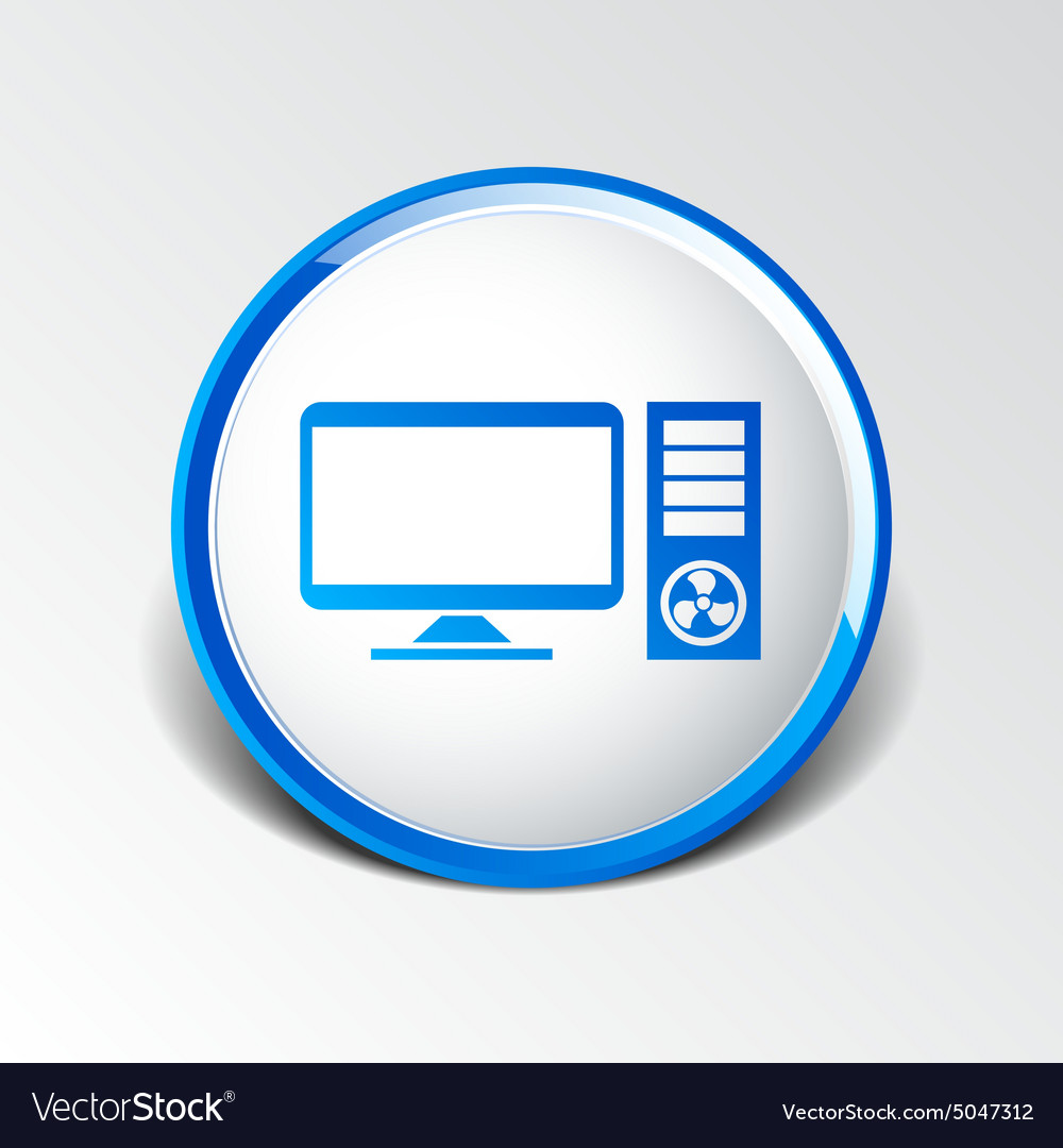 Desktop computer icon pc symbol laptop royalty free vector desktop computer icon pc symbol laptop vector image biocorpaavc