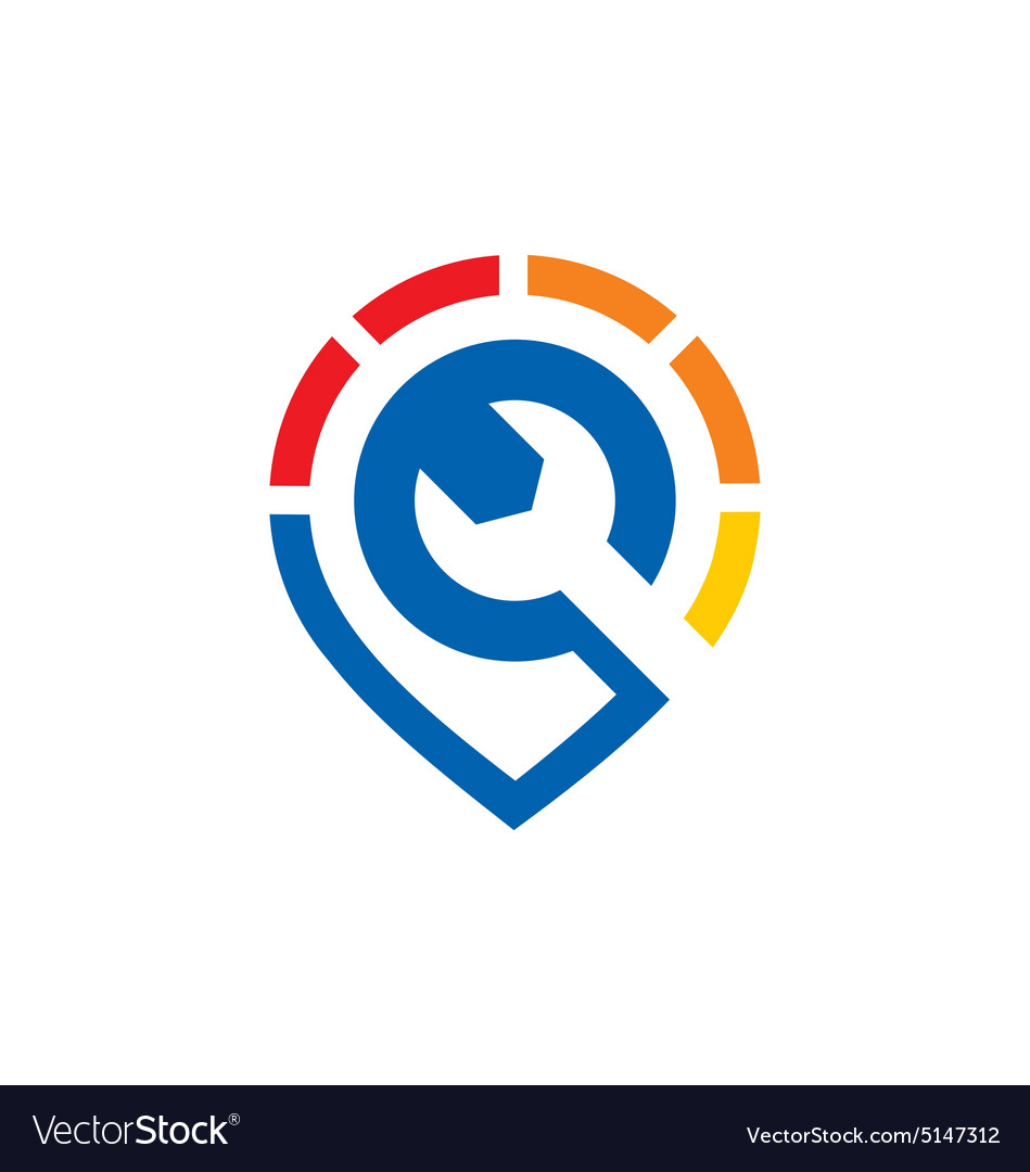 Maintenance work tool business logo vector image