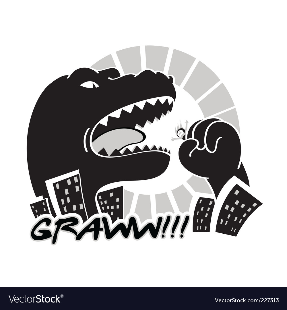 Monster in city vector image
