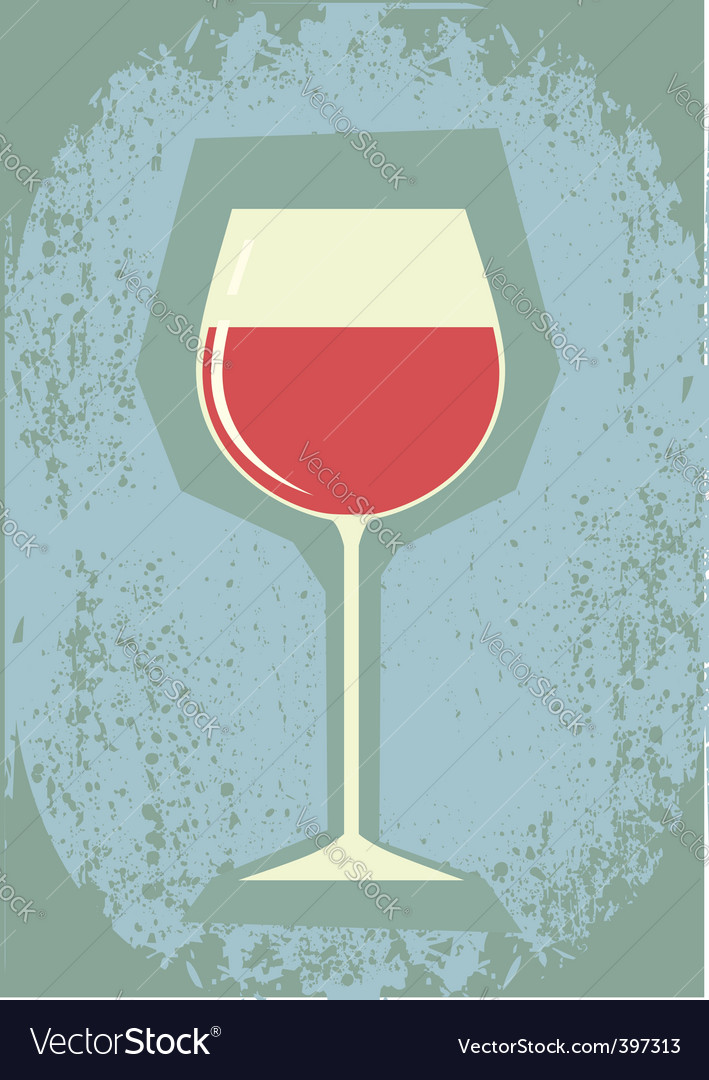 Retro grunge wine vector image