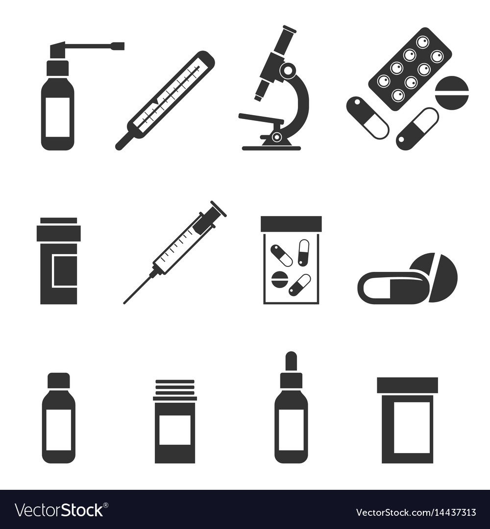 A set of medical icons vector image