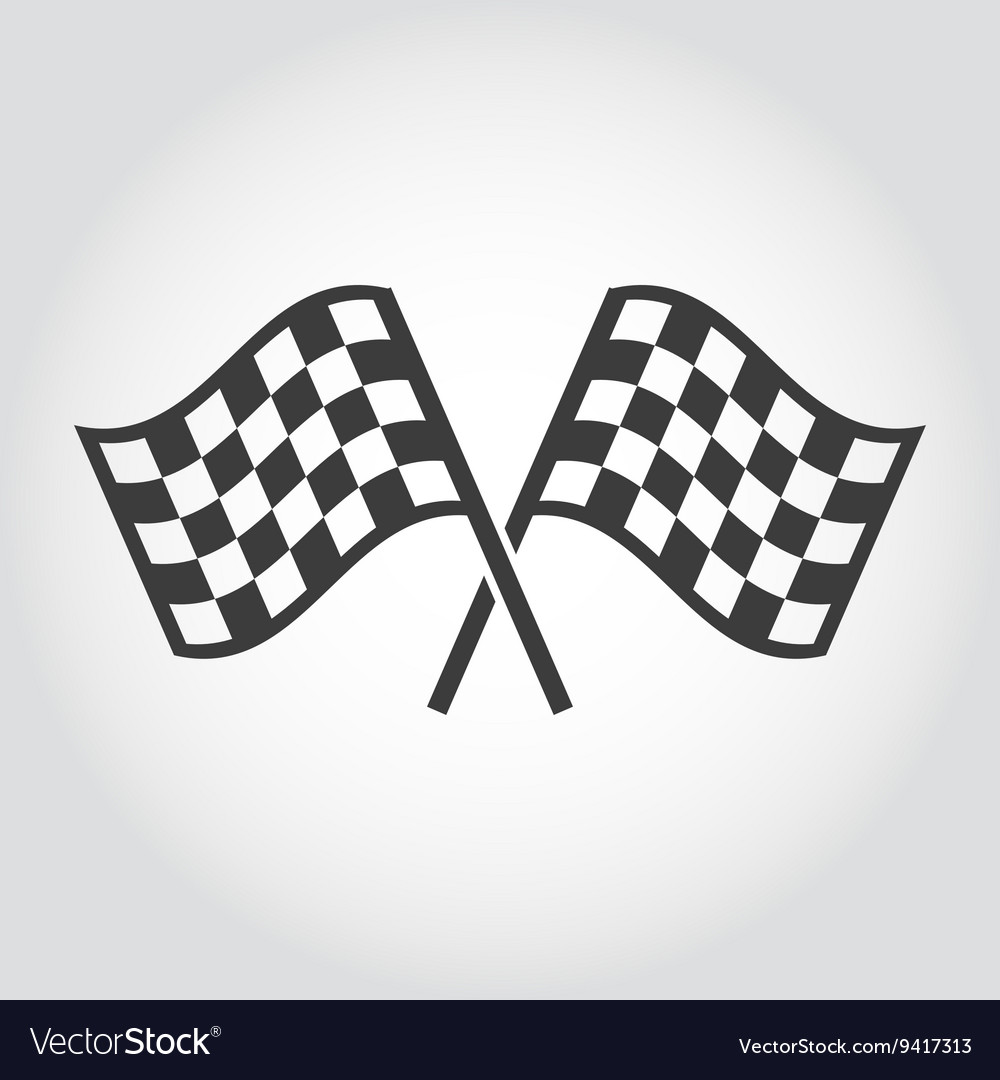 Checkered flags icons set vector image