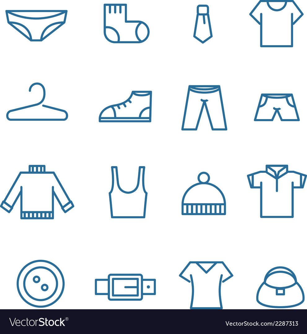 Different clothes silhouettes collection vector image