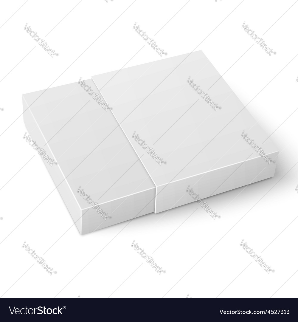 White sliding cardboard box template vector image