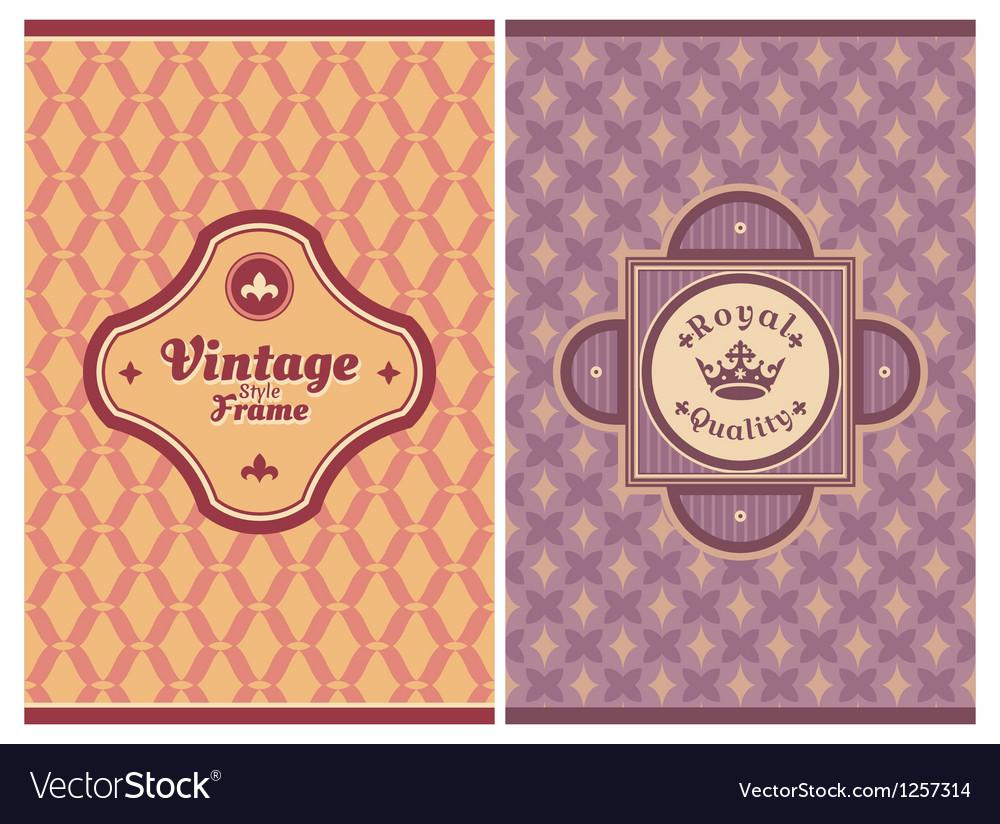 Invitation vintage retro cards vector image