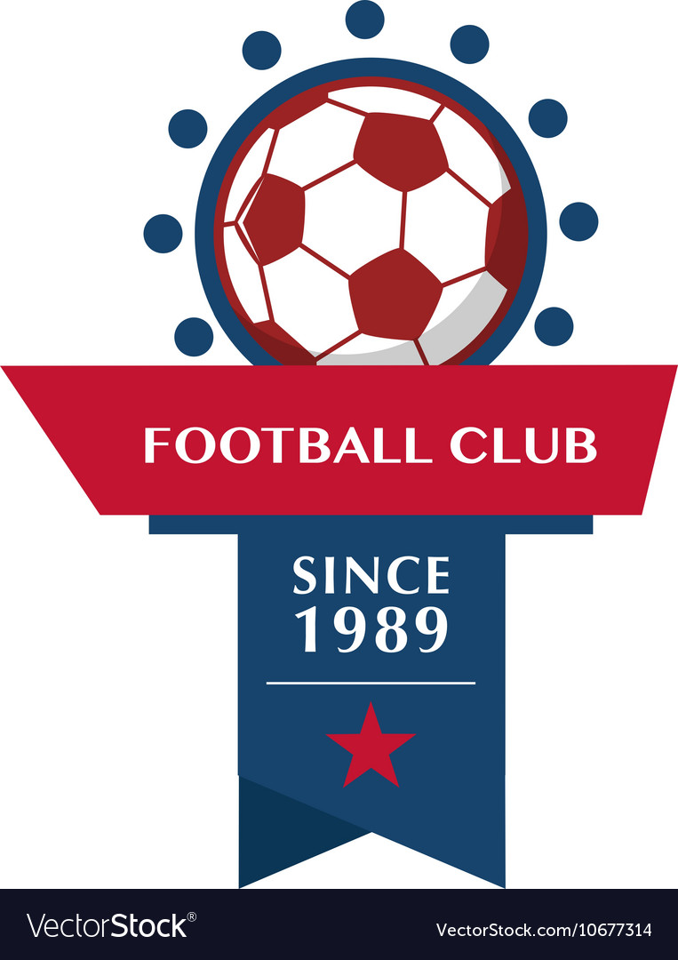 Football Badge 1 vector image