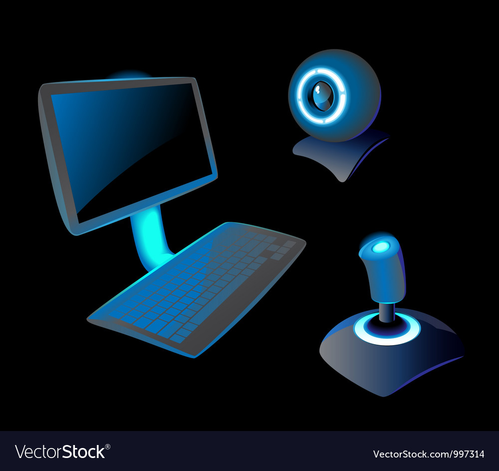 Icons for PC vector image