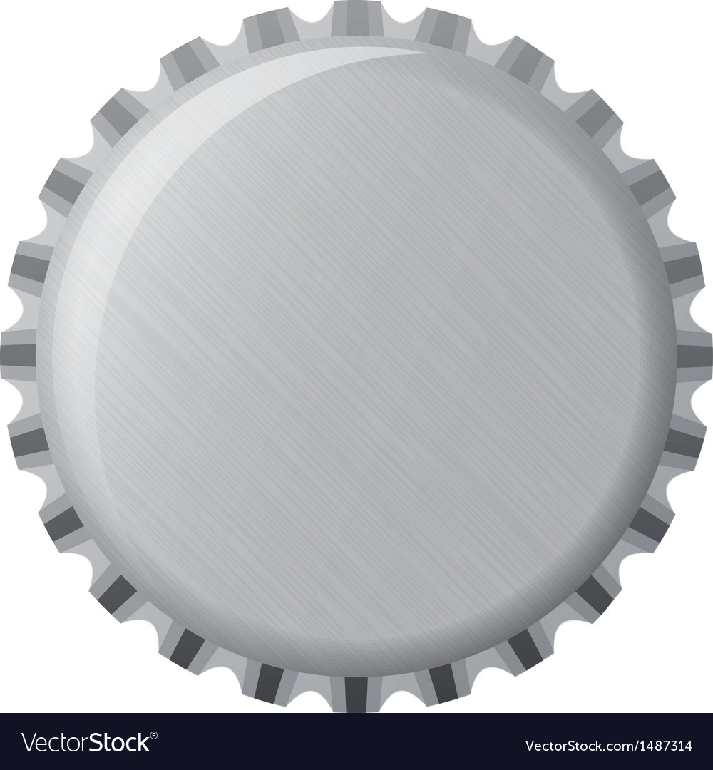 Metallic bottle cap vector image