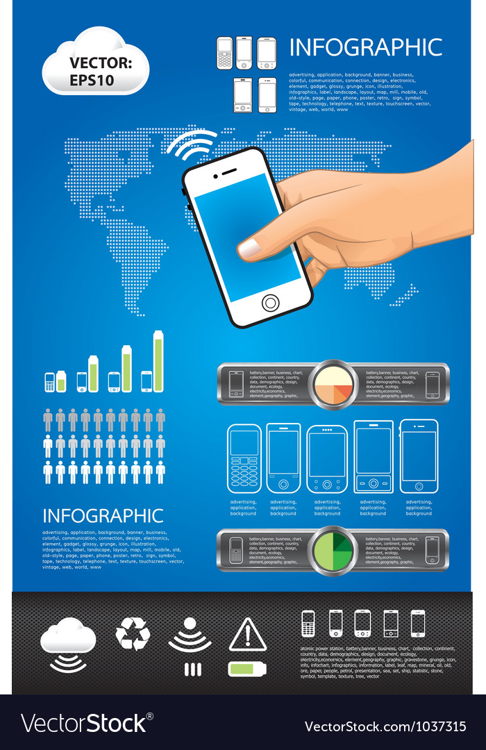 Telephone info graphic Vector Image