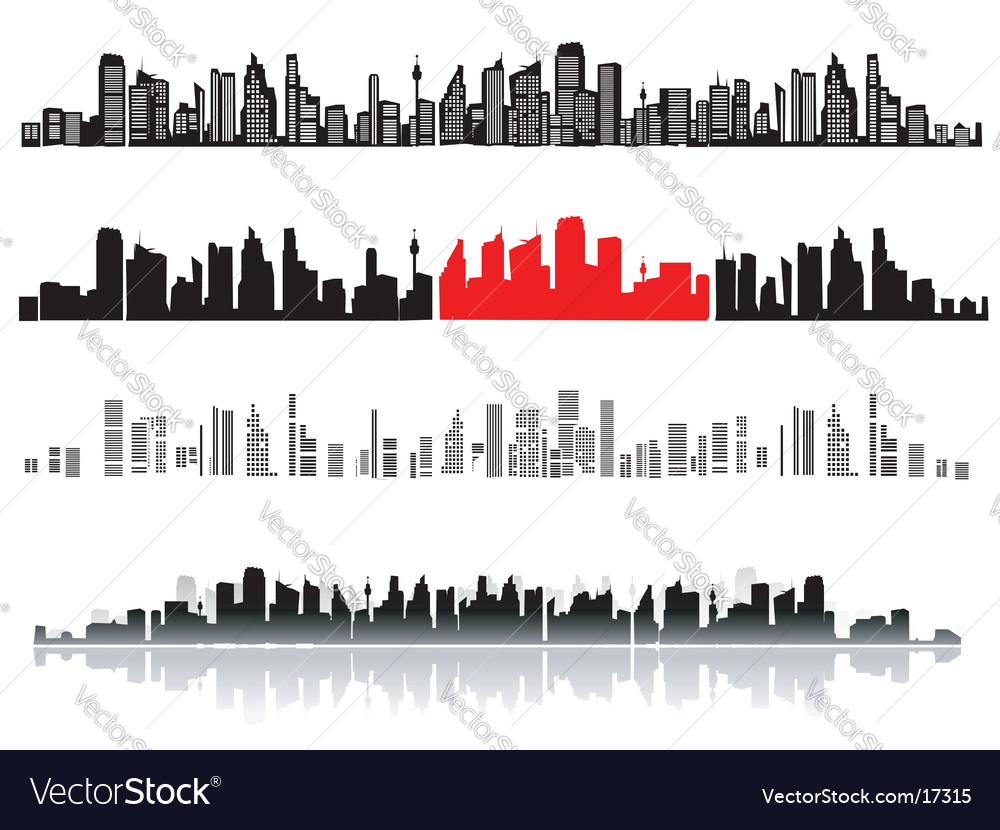 new york skyline silhouette. new york skyline silhouette