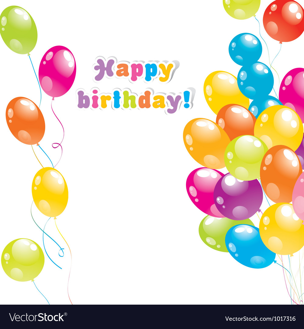 Balloons birthday card royalty free vector image balloons birthday card vector image bookmarktalkfo Choice Image