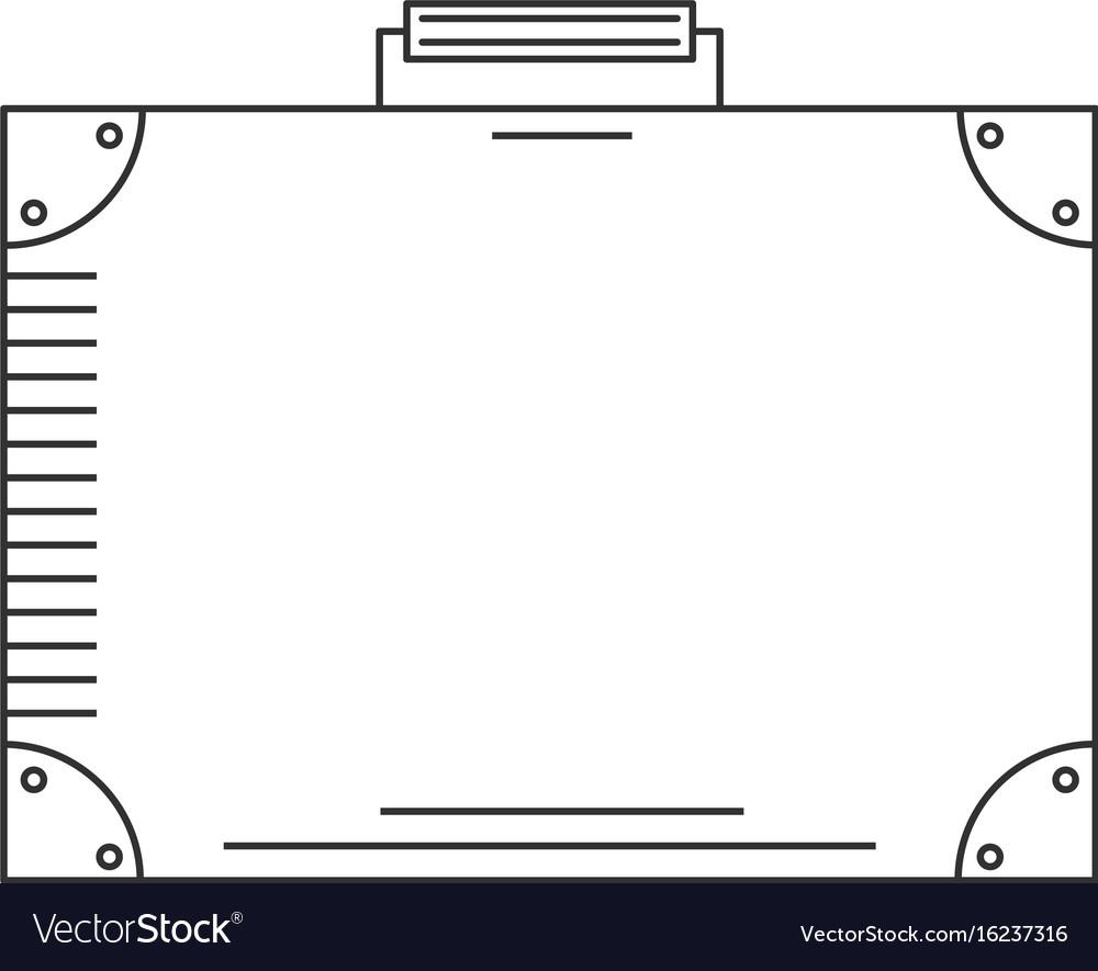Line icon suitcase vector image