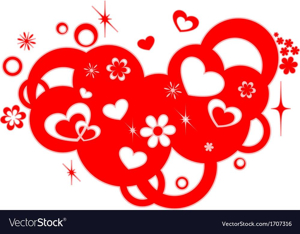 Love design element vector image
