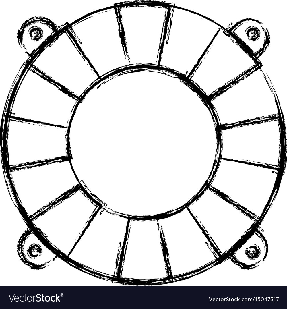 Blurred thick silhouette of flotation hoop vector image