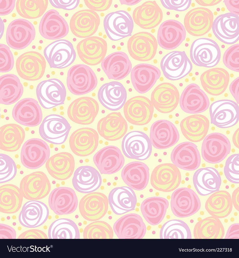 Floral light background vector image