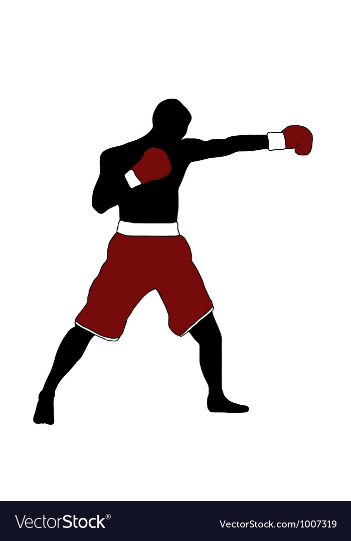 Boxer silhouette vector image