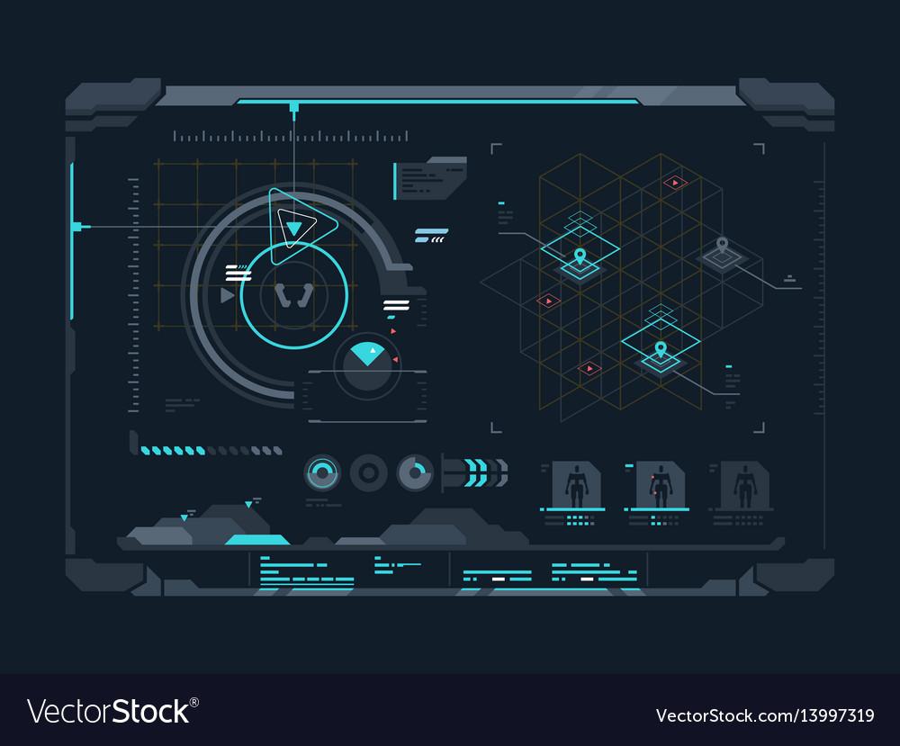 Virtual digital interface vector image