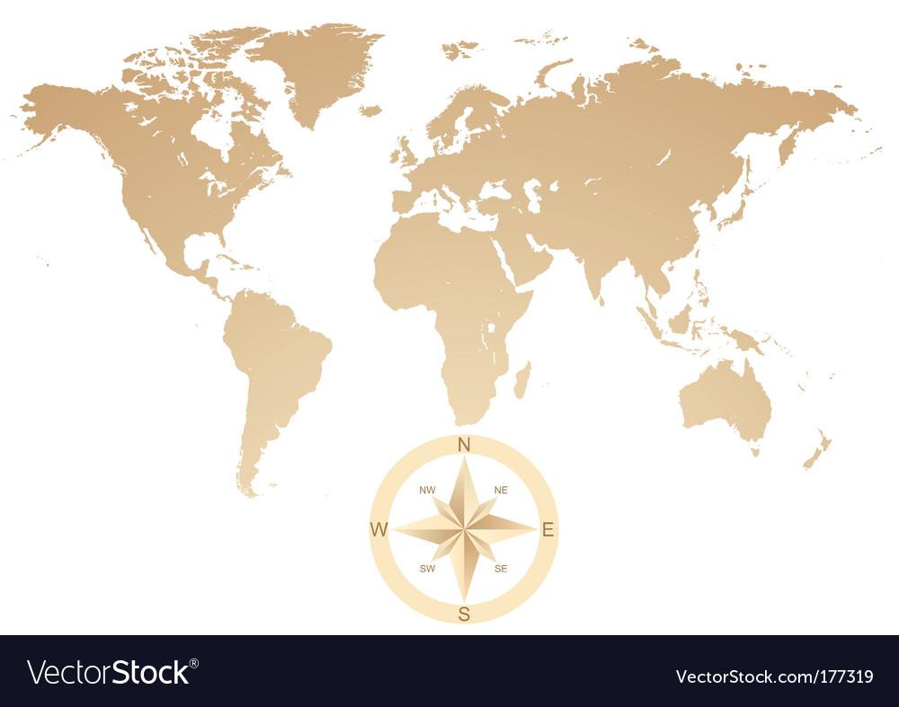 World background vector image