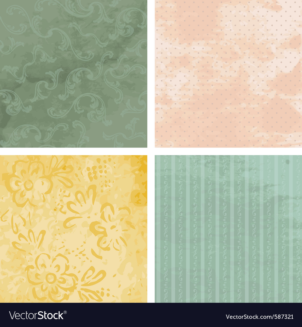 Victorian grunge backgrounds vector image