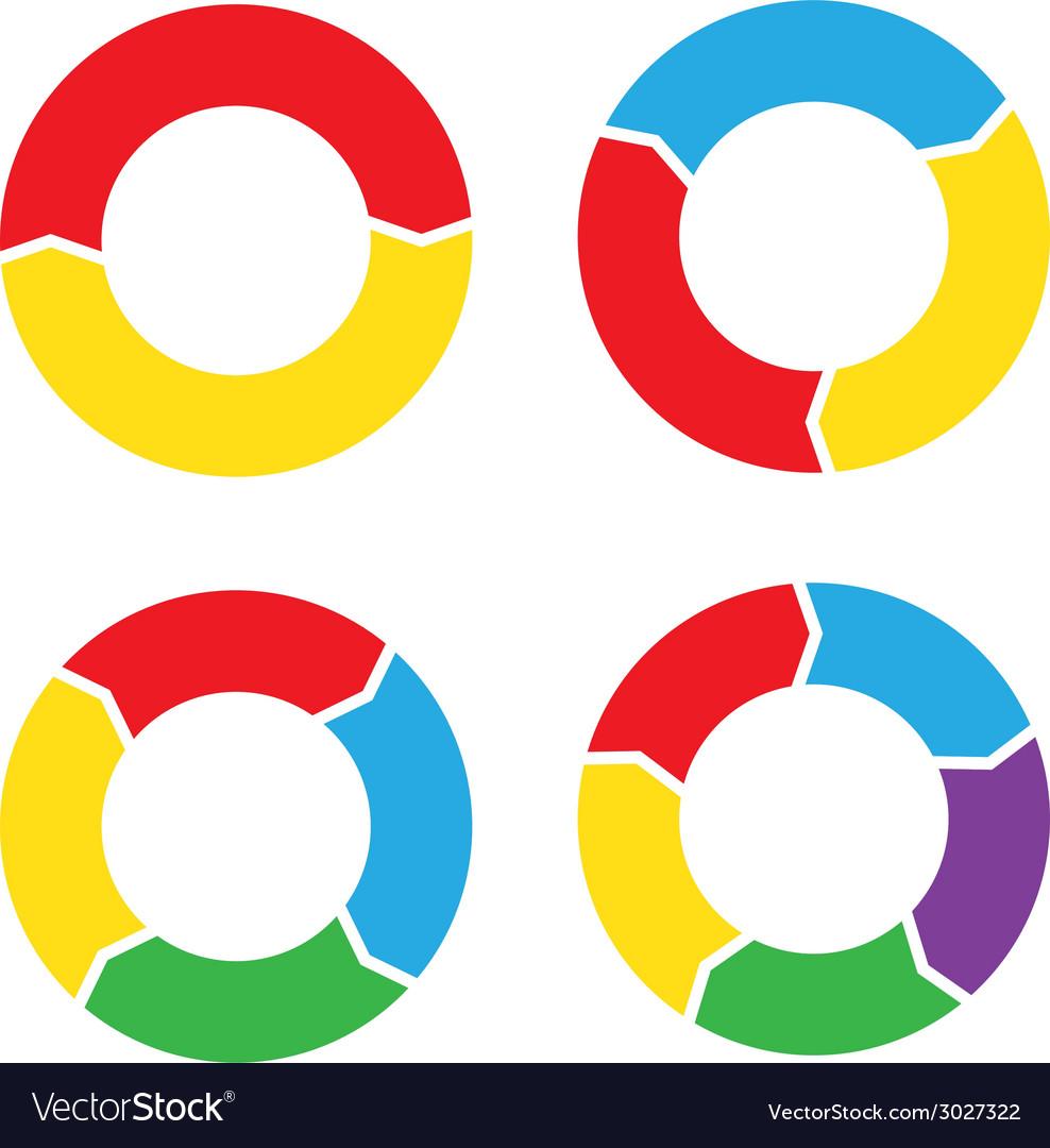 Circle chart set color royalty free vector image circle chart set color vector image nvjuhfo Images