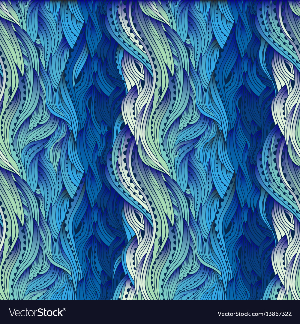 Waves gradient blue 5 vector image