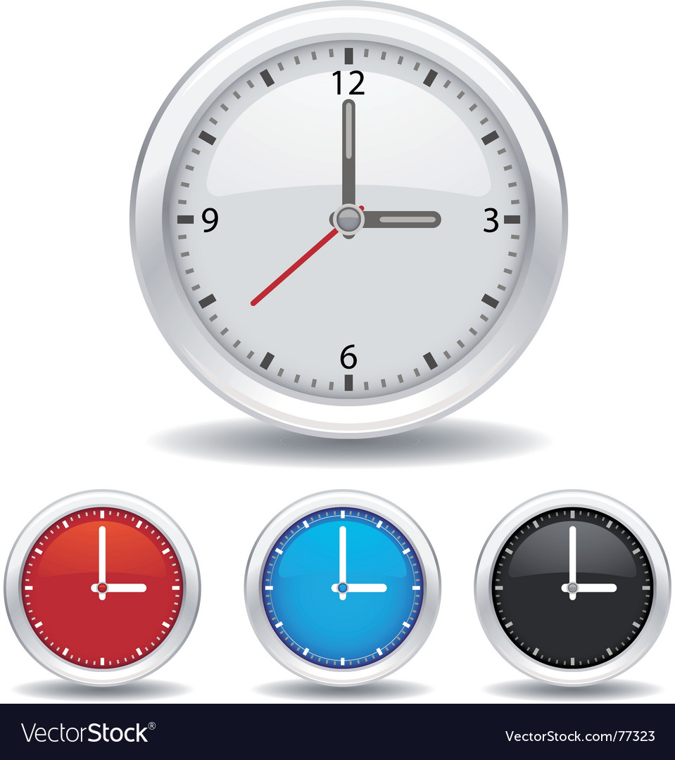 Analog clock vector image