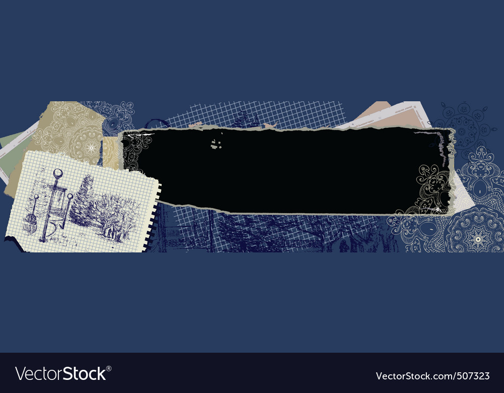Vintage grunge banner vector image