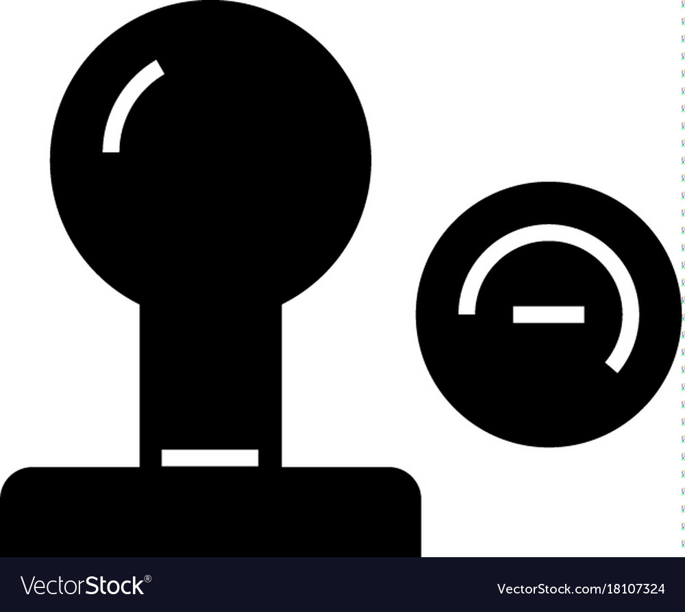 Stamp icon black sign on vector image