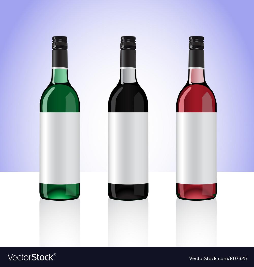 Wine bottles part 2 vector image